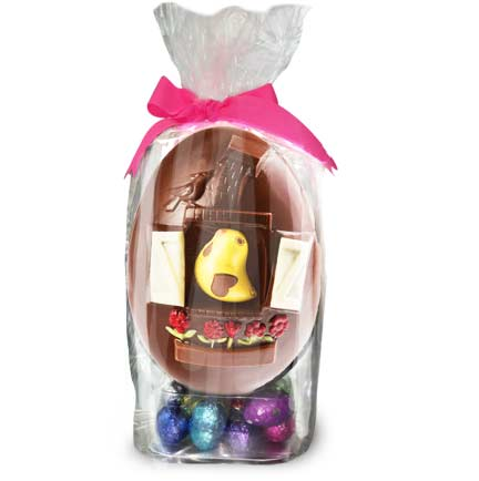 house Easter Egg milk or dark with mini Eggs