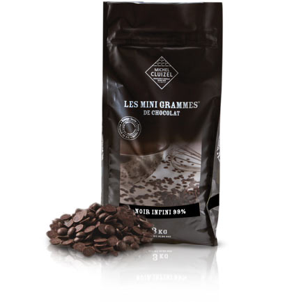 Chocolate Morsels - Noir Infini 99% - Chocolat Michel Cluizel USA