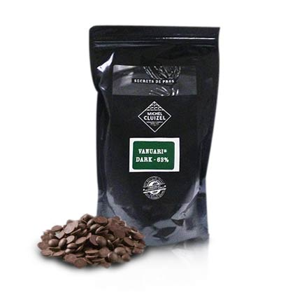 Baking Chocolate Morsels - Vanuari Dark, 63% cocoa