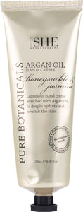 OM SHE Aromatherapy.   ARGAN OIL Hand Creme HONEYSUCKLE & JASMINE             120 ml