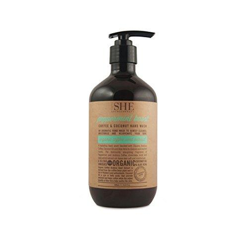 OM SHE AROMATHERAPY PEPPERMINT BOOST COFFEE & COCONUT HAND WASH 500ML