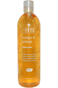 OM SHE Aromatherapy   MANGO & ORANGE     Body Wash 500ml
