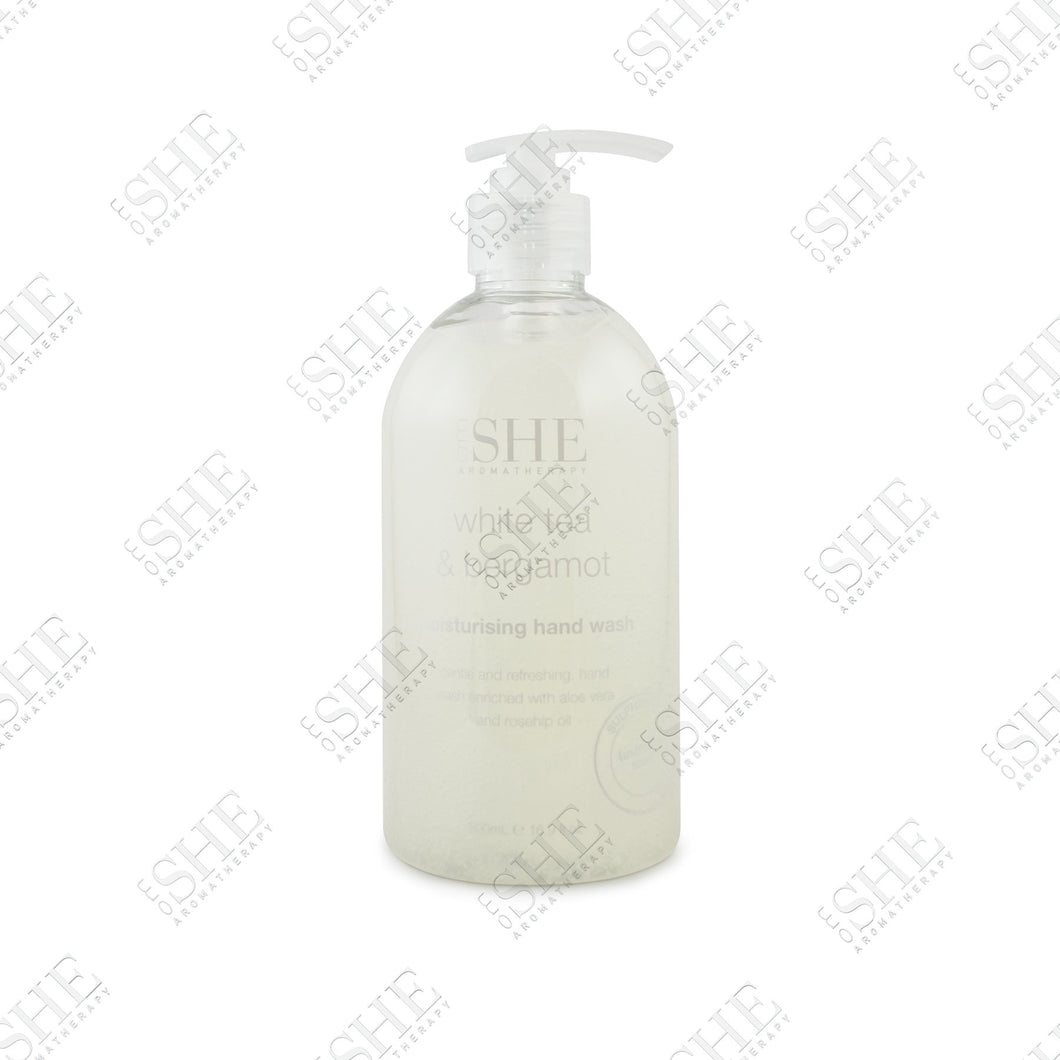 OM SHE Aromatherapy     WHITE TEA & BERGAMOT       Moisturising Hand Wash 500ML