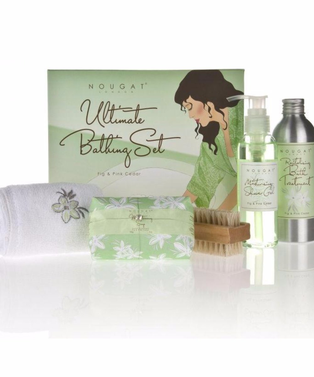 Fig & Pink Cedar Ultimate Bathing Set
