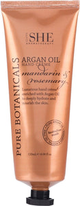 OM SHE Aromatherapy.   ARGAN OIL Hand Creme.   MANDARIN & ROSEMARY 120 ml