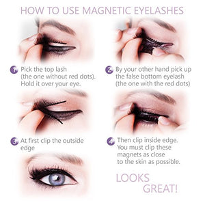 Magnetic Natural Finish False Eyelashes