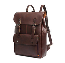 Z1835 Vintage Crazy Horse Casual Leather Backpack - YANCAS OFFICIAL