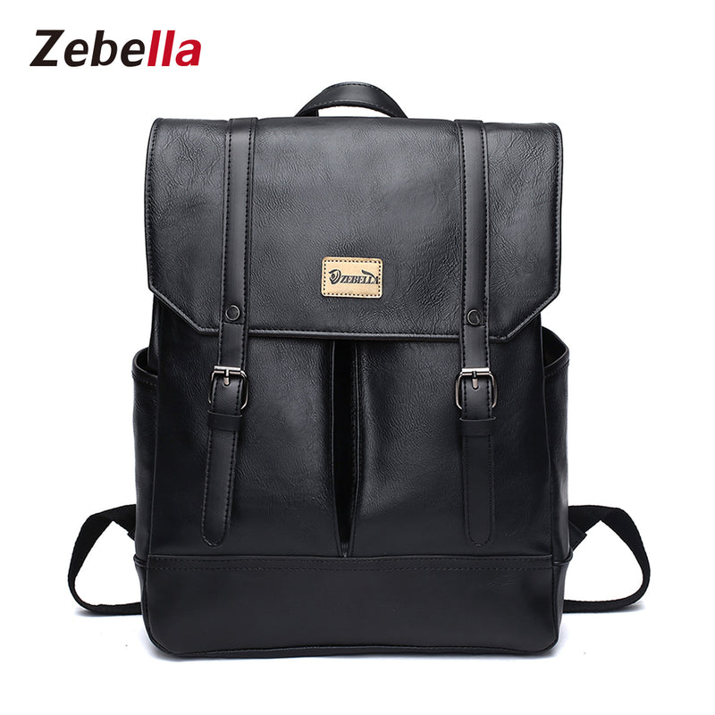 6e6fe4c468 Z1520 Unisex Vintage Leather Laptop Backpack - Zebella Official