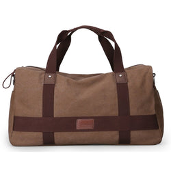 Z1739 Unisex Canvas Travel Duffel Tote Sports Gym Bag