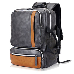 Z210 Men's Fashion Casual PU Leather Backpack