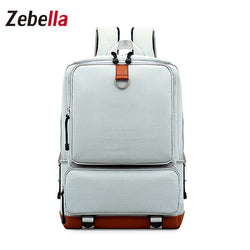 Z46 Women's Solid Simple Canvas School Backpack