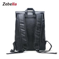 Z1519 Vintage PU Leather Laptop College Backpack