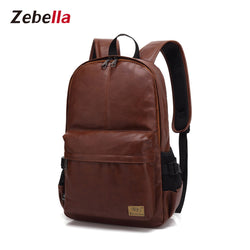Z018 Vintage PU Leather College Laptop Backpack