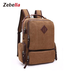 Z8094 Men's Canvas Travel 16 Inch Laptop Backpack