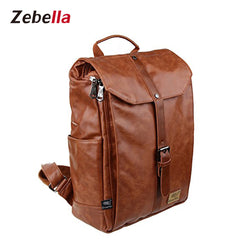 Z013 Unisex Vintage Leather College Laptop Backpack