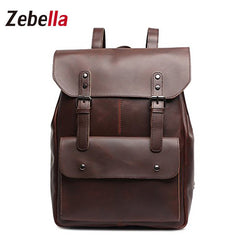 Z1835 Vintage Crazy Horse Casual Leather Backpack