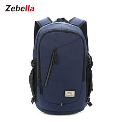 USB Charging Nylon School Travel Laptop Backpack
