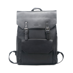 Vintage PU Leather Laptop College Travel Backpack