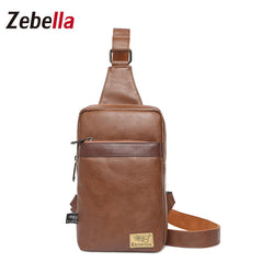 Z1833 Men's Chest Bag PU Leather Crossbody Bag­