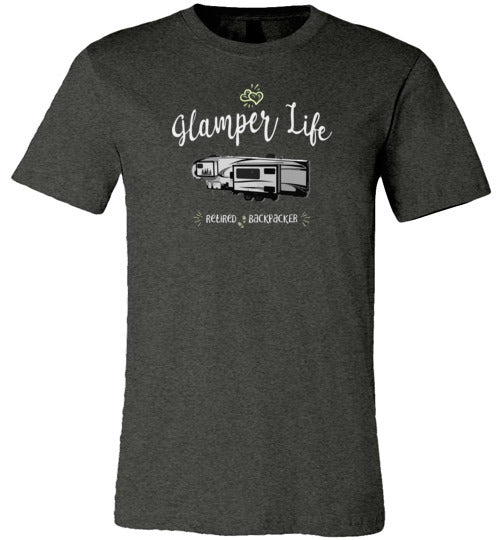 Graphics Inspire - Glamper Life Fifth Wheel RV Retired Backpacker Premium Unisex T-Shirt