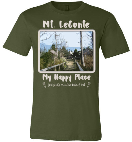 Graphics Inspire T-Shirt - Mt. LeConte My Happy Place Great Smoky Mountains National Park Premium Unisex T-Shirt