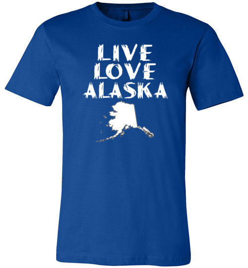 LIVE LOVE ALASKA State of AK Premium Unisex Royal Blue T-Shirt