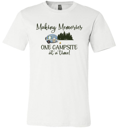 Graphics Inspire Shirt - Making Memories One Campsite At A Time RV Camping Premium Unisex T-Shirt