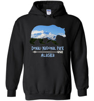 Graphics Inspire - Denali National Park Alaska in Grizzly Bear Black Hoodie