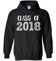 Graphics Inspire - Class of 2018 Graduation Hand Sketched Black Hoodie