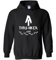 Graphics Inspire - AT Thru-Hiker Completed Appalachian Trail in 2017 Rustic Thru-Hiker Black Hoodie