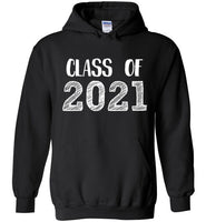Graphics Inspire - Class of 2021 Graduation Hand Sketched Black Hoodie