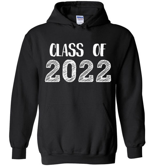 Graphics Inspire - Class of 2022 Graduation Hand Sketched Black Hoodie