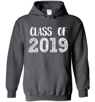 Graphics Inspire - Class of 2019 Graduation Hand Sketched Charcoal Hoodie