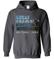 Graphics Inspire - Great Smoky Mountains National Park in Mountain Landscape Charcoal Hoodie