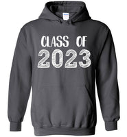 Graphics Inspire - Class of 2023 Graduation Hand Sketched Charcoal Gray Hoodie