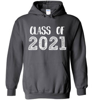 Graphics Inspire - Class of 2021 Graduation Hand Sketched Charcoal Gray Hoodie