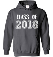 Graphics Inspire - Class of 2018 Graduation Hand Sketched Charcoal Hoodie