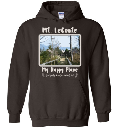 Graphics Inspire Hoodie - Mt. LeConte My Happy Place Great Smoky Mountains National Park Hoodie