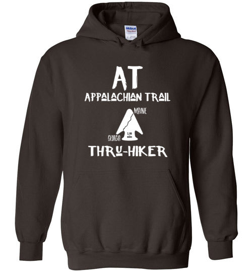 Graphics Inspire - AT Appalachian Trail Georgia to Maine Rustic Thru-Hiker Dark Chocolate Hoodie