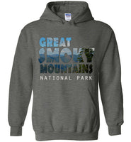 Graphics Inspire - Great Smoky Mountains National Park in Mountain Landscape Dark Heather Hoodie