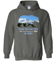Graphics Inspire - Denali National Park Alaska in Grizzly Bear Dark Heather Hoodie
