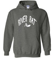 Graphics Inspire Hoodie - River Rat Whitewater Kayaking Distressed Kayaker's Hoodie