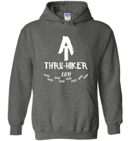 Graphics Inspire - AT Thru-Hiker Completed Appalachian Trail in 2017 Rustic Thru-Hiker Dark Heather Hoodie