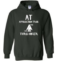Graphics Inspire - AT Appalachian Trail Georgia to Maine Rustic Thru-Hiker Forest Green Hoodie