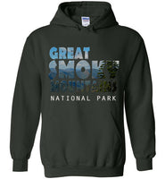 Graphics Inspire - Great Smoky Mountains National Park in Mountain Landscape Forest Green Hoodie
