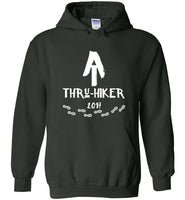 Graphics Inspire - AT Thru-Hiker Completed Appalachian Trail in 2017 Rustic Thru-Hiker Forest Green Hoodie