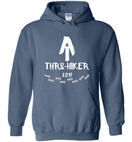 Graphics Inspire - AT Thru-Hiker Completed Appalachian Trail in 2017 Rustic Thru-Hiker Indigo Blue Hoodie