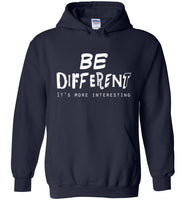 Graphics Inspire - BE DIFFERENT It's More Interesting so Be Yourself Fun Navy Hoodie