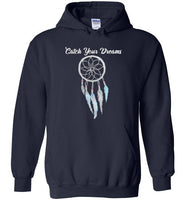 Graphics Inspire - Dream Big Catch Your Dreams Lovely Dream Catcher Navy Hoodie