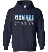 Graphics Inspire - DENALI National Park Alaska Mountain Range Navy Hoodie